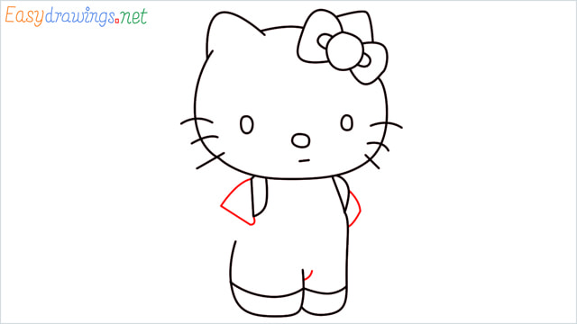 How to draw the Hello Kitty step (10)