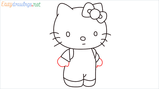 How to draw the Hello Kitty step (11)