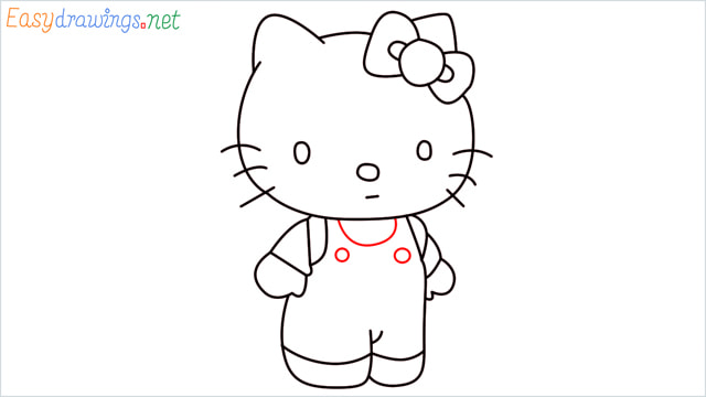 How to draw the Hello Kitty step (12)