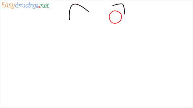 How to draw the Hello Kitty step (2)