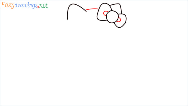 How to draw the Hello Kitty step (4)