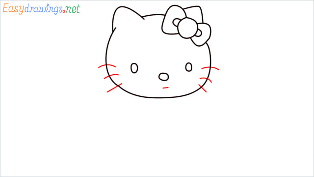 How to draw the Hello Kitty step (7)