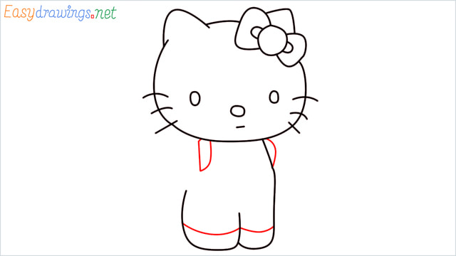 How to draw the Hello Kitty step (9)
