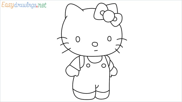How to draw the Hello Kitty step by step