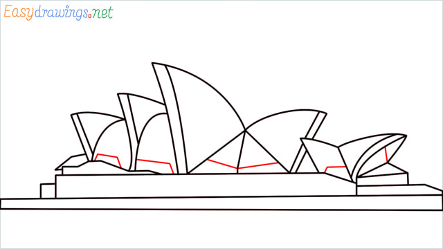 How to draw the Opera house step (10)