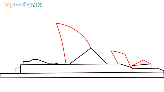 How to draw the Opera house step (5)