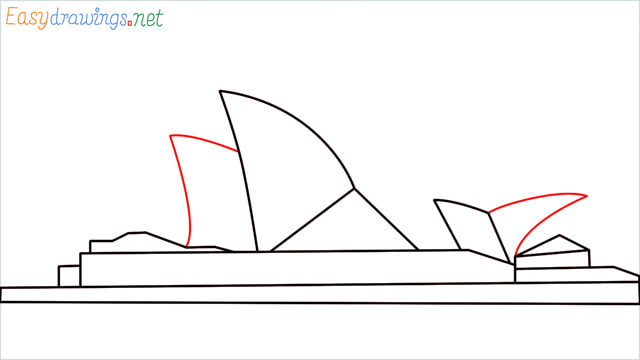 How to draw the Opera house step (6)