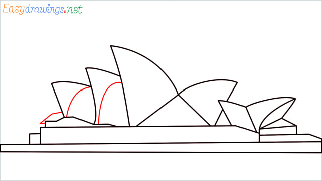 How to draw the Opera house step (8)