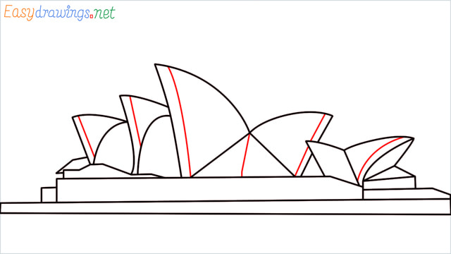 How to draw the Opera house step (9)