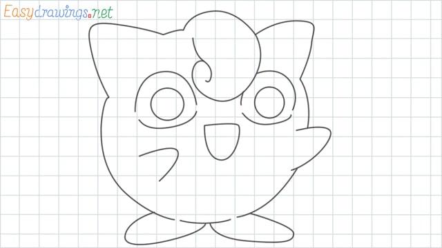 Jigglypuff grid line drawing