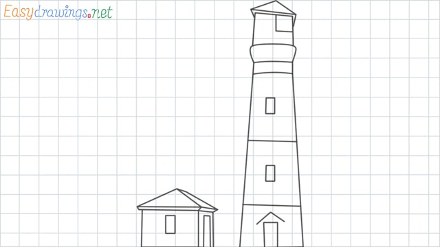 Lighthouse grid line drawing