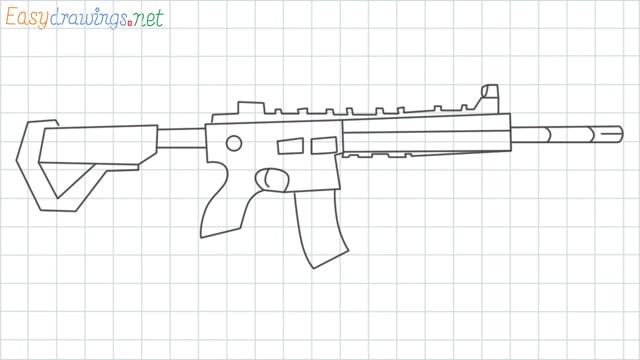 M416 grid line drawing