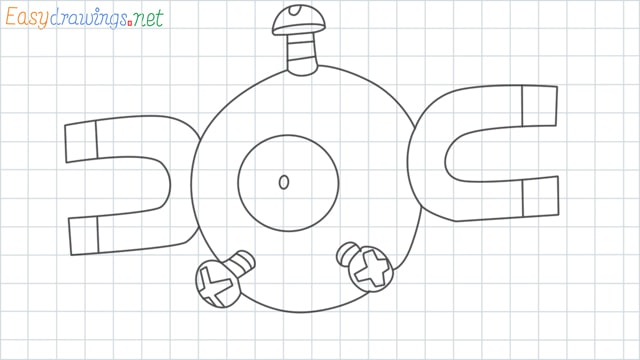Magnemite grid line drawing