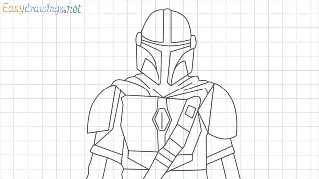 Mandalorian grid line drawing