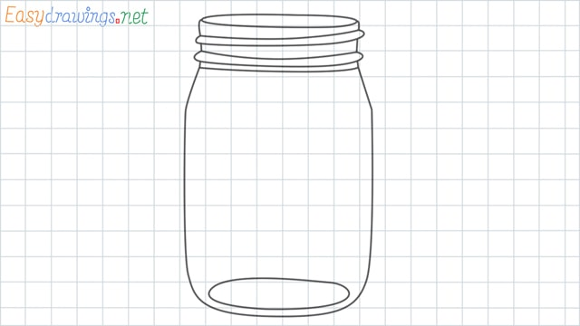 Mason jar grid line drawing