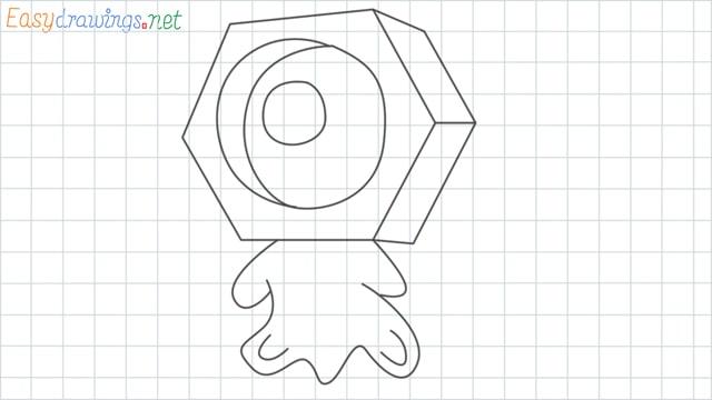 Meltan grid line drawing