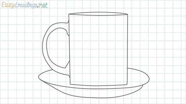 Mug grid line drawing