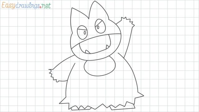 Munchlax grid line drawing