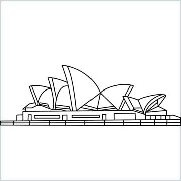 Opera house drawing
