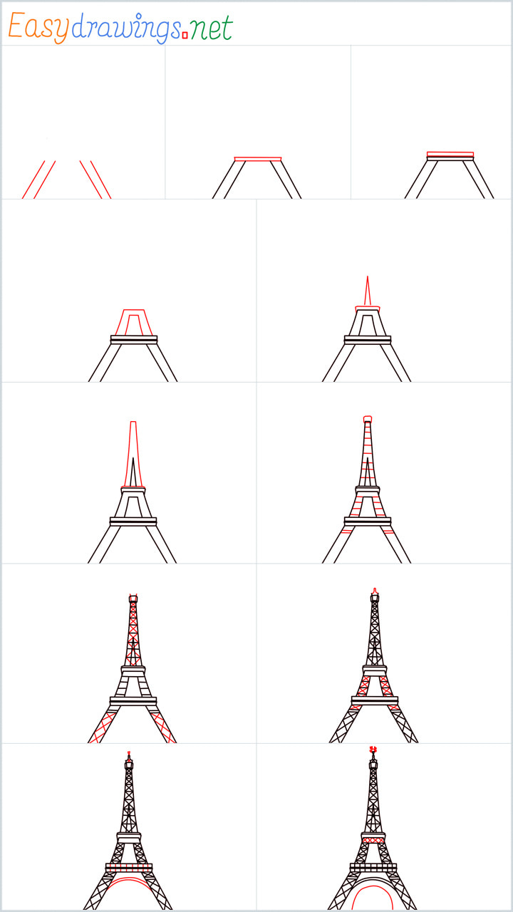 Overview added for Eiffel Tower drawing