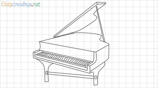 Piano grid line drawing