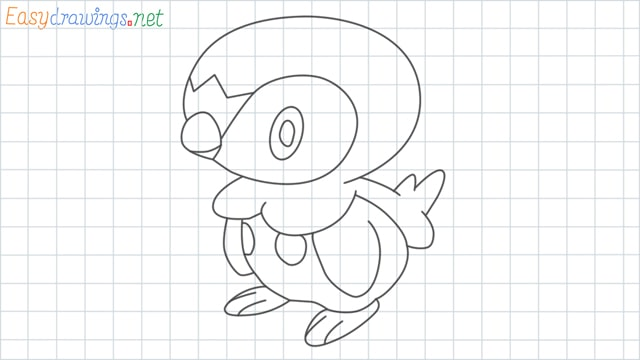 Piplup grid line drawing