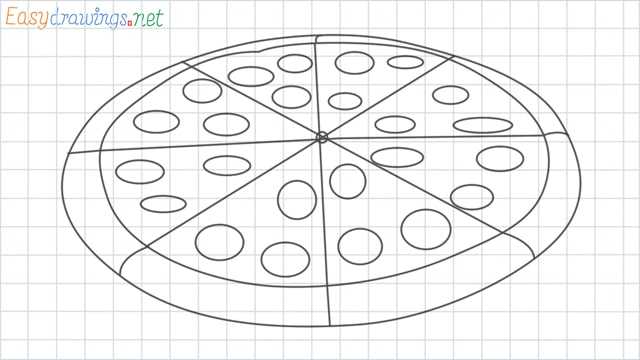 Pizza grid line drawing