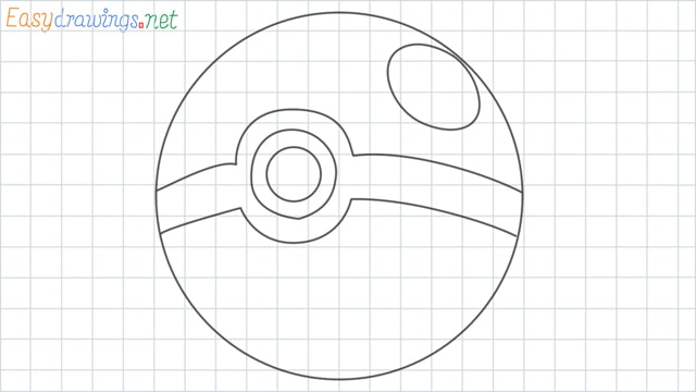 Pokemon ball grid line drawing
