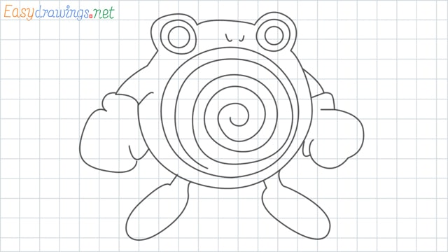 Poliwhirl grid line drawing
