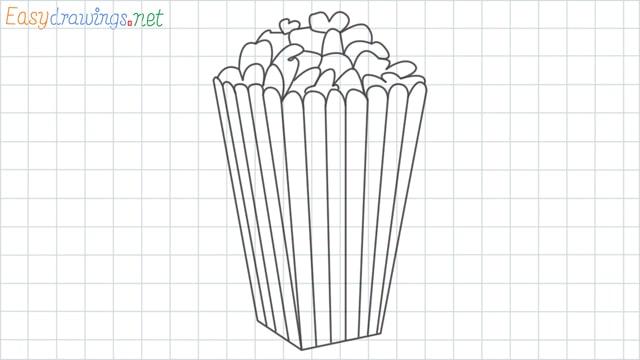 Popcorn grid line drawing