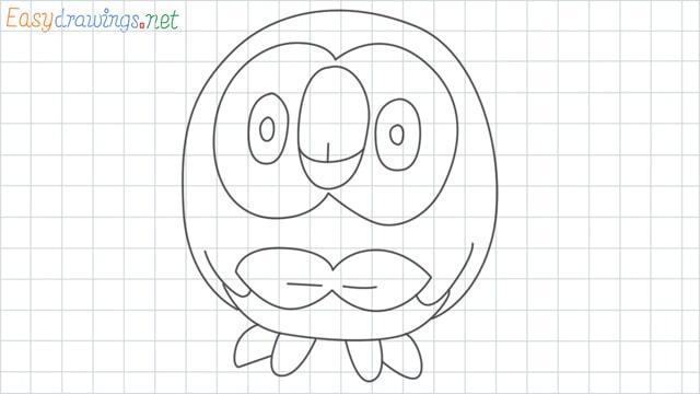 Rowlet grid line drawing