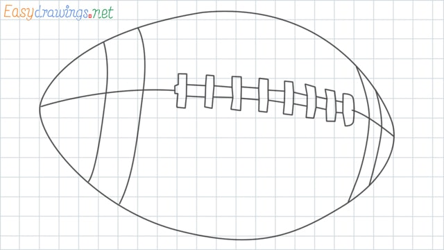 Rugby ball grid line drawing
