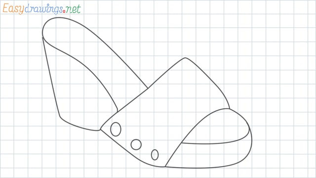 Sandals grid line drawing