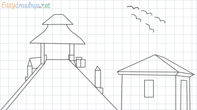 Scenery ONE grid line drawing