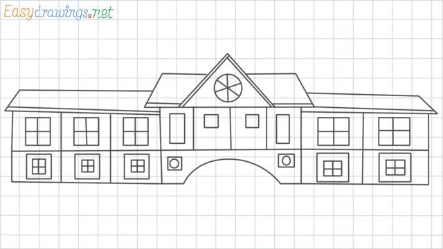 School grid line drawing
