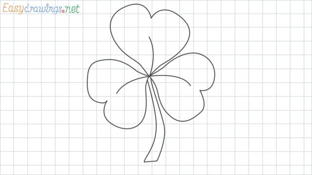 Shamrock grid line drawing