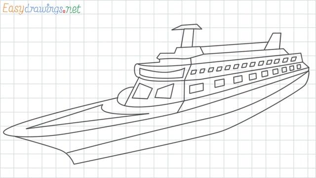 Ship grid line drawing