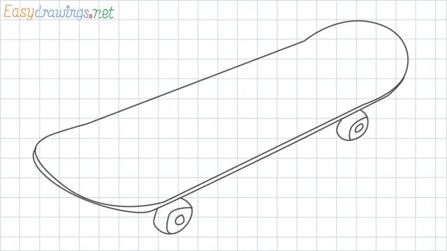 Skateboard grid line drawing