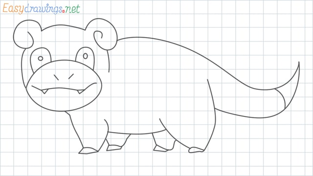 Slowpoke grid line drawing