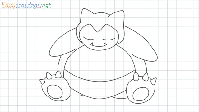 Snorlax grid line drawing