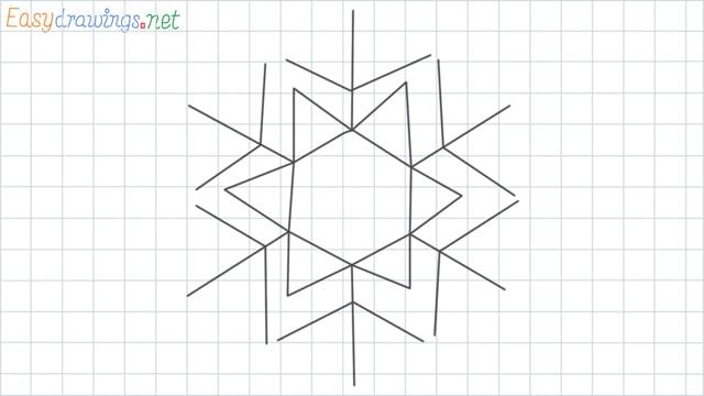 Snowflake grid line drawing