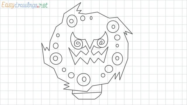 Spiritomb grid line drawing
