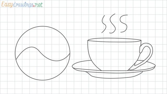 Teacup grid line drawing