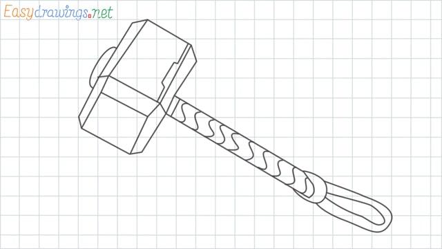 Thor hammer grid line drawing