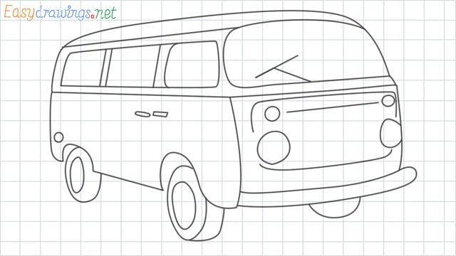 Van grid line drawing