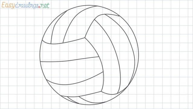 Volleyball grid line drawing