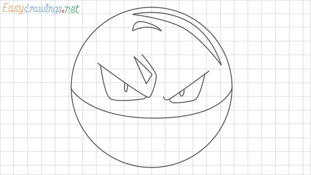 Voltorb grid line drawing