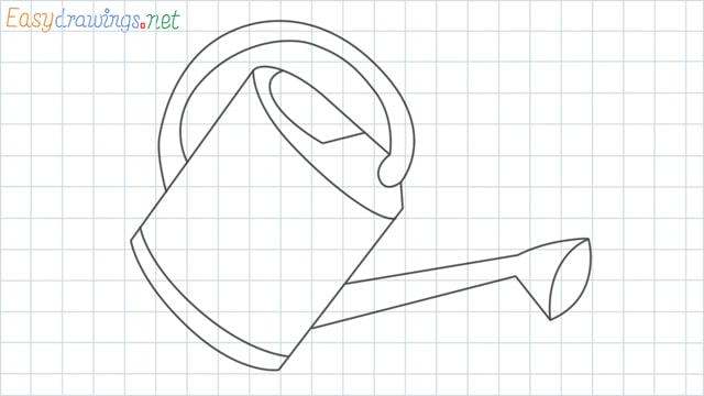 Watering can grid line drawing