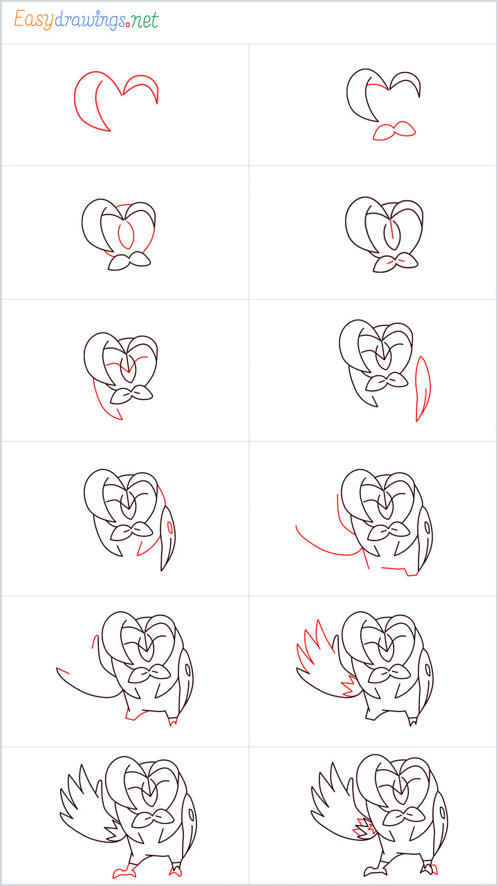 all outline for Dartrix drawing example