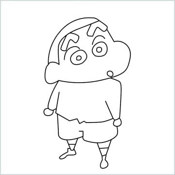 easy Shin chan drawing